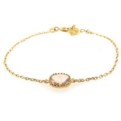 LILLY LILLY Armband | Square Crystal Gold | Champagne | A8
