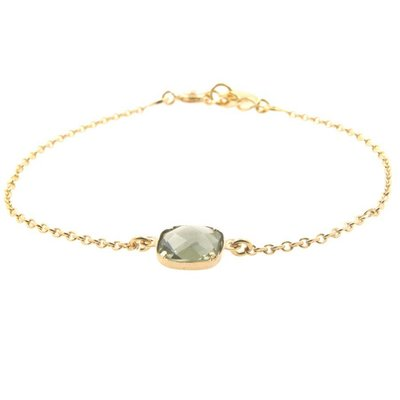 LILLY LILLY Armband | Square Crystal Gold | Green | A1