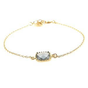 LILLY LILLY Armband | Square Crystal Gold | 14 Karaats | Grey