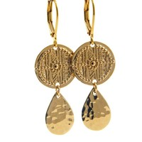 LILLY LILLY Oorbellen - Inca Drop Gold | 14 Karaats
