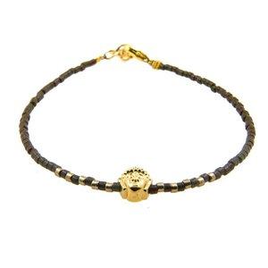 LILLY LILLY Armband | Miyuki Buddha Gold | Green | 14 Karaats