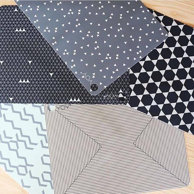 Scandinavisch design placemats van siliconen of leer