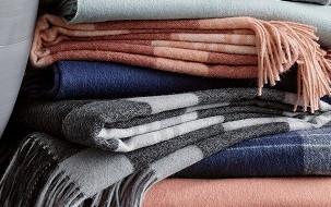 Plaids van wol  met alpacawol