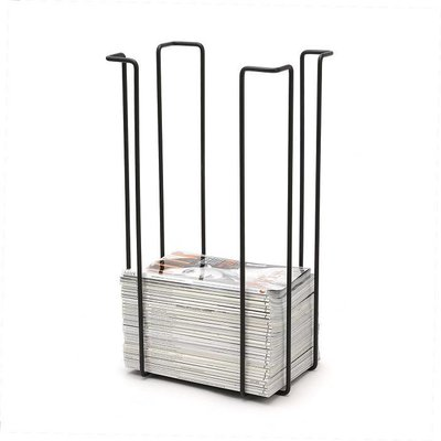 WE Design  Tijdschriftenrek XL Zwart 60x33x26cm