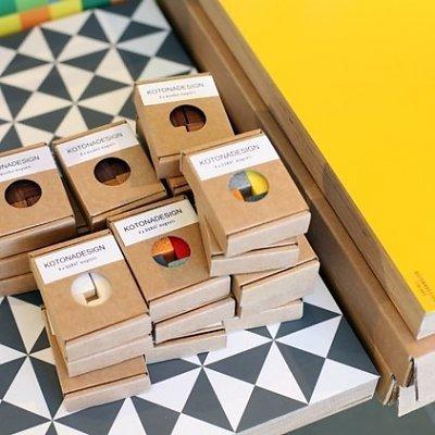 Kotonadesign  Magneten set - Durat 4 stuks assorti