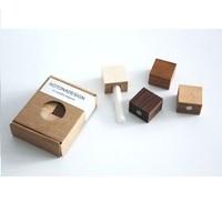 Kotonadesign  Magneten set - Hout 4 stuks + krijtje