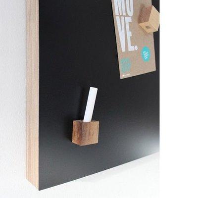 Kotona design  Houten Magneten set - 4 stuks + krijtje