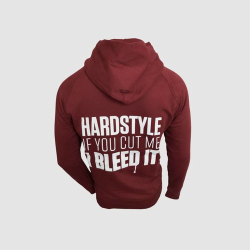 Bleed It Burgundy Hooded Sweater