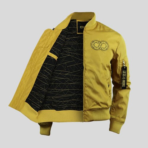 Golden Bomber Jacket