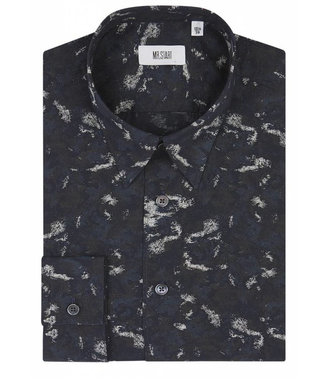 The Ace Shirt in Navy Camo Print