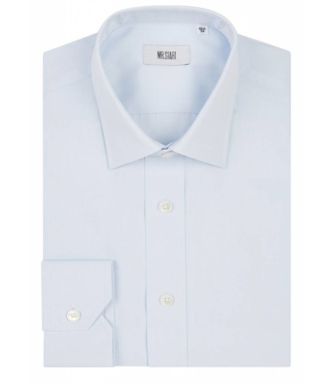The Ritz Super Fine Two Fold Cotton Shirt in Pale Blue