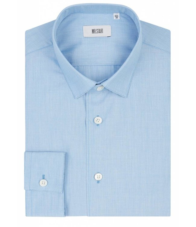The Bower Shirt in Arctic Blue