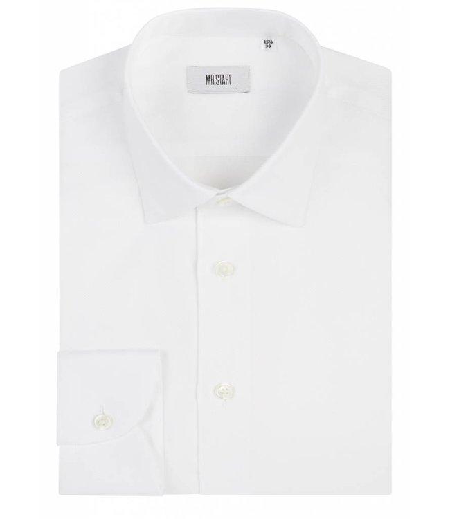 The Drake Shirt in White Piquet