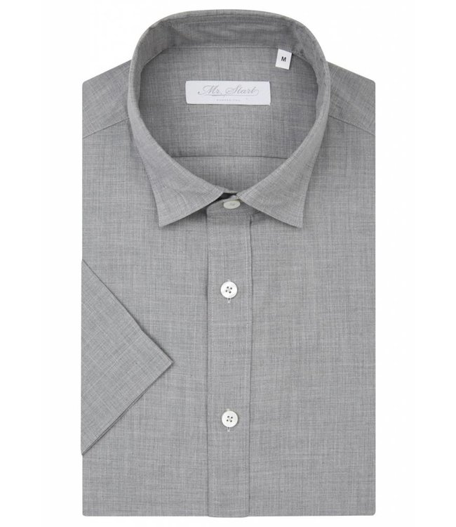 The Factory Shirt in Melange Grey