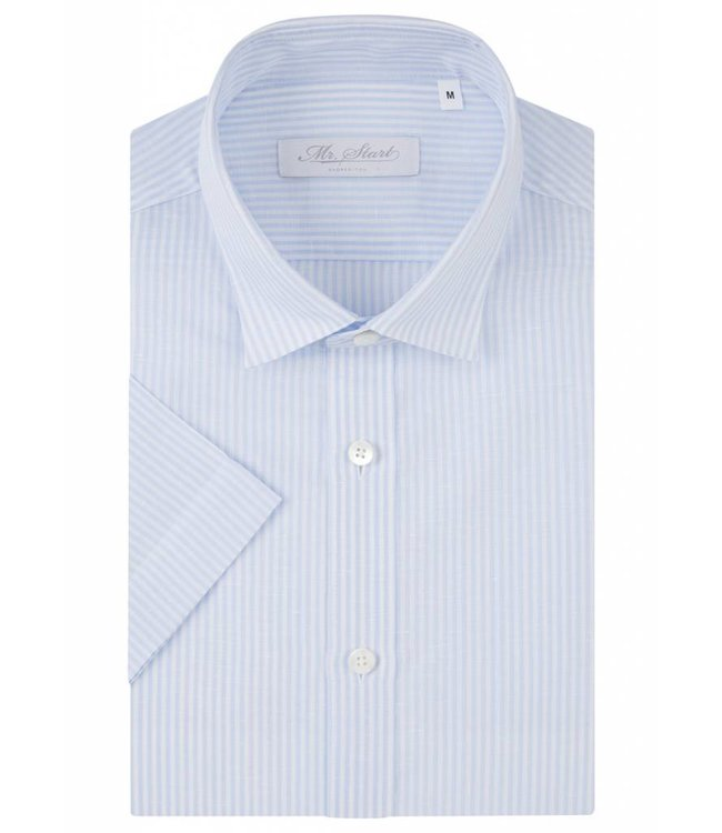 The Factory Shirt in Light Blue Stripe