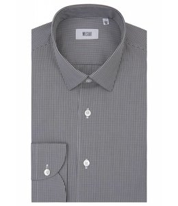 The Drake  Super Fine Two Fold Cotton Shirt in Black Gingham