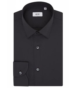 The Drake Superior Two Fold Cotton Shirt in Classic Black