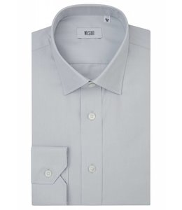 The Ritz Superfine Two Fold Cotton Shirt in Pale Grey