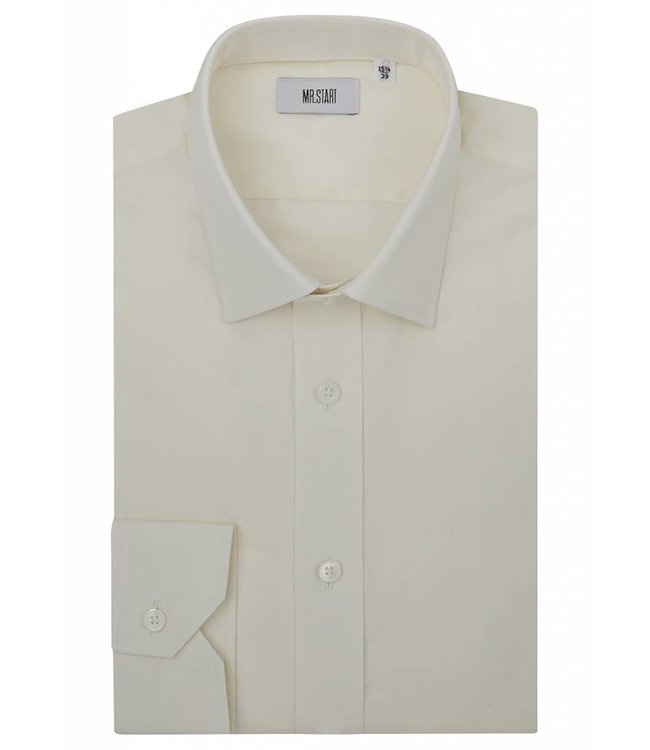 The Ritz Super Fine Two Fold Cotton Shirt in Soft Yellow