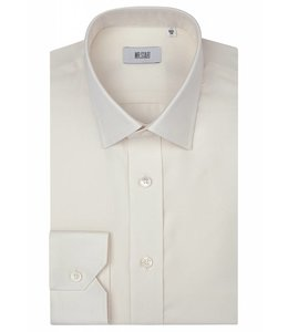 The Ritz Super Fine Two Fold Cotton Shirt in Cream