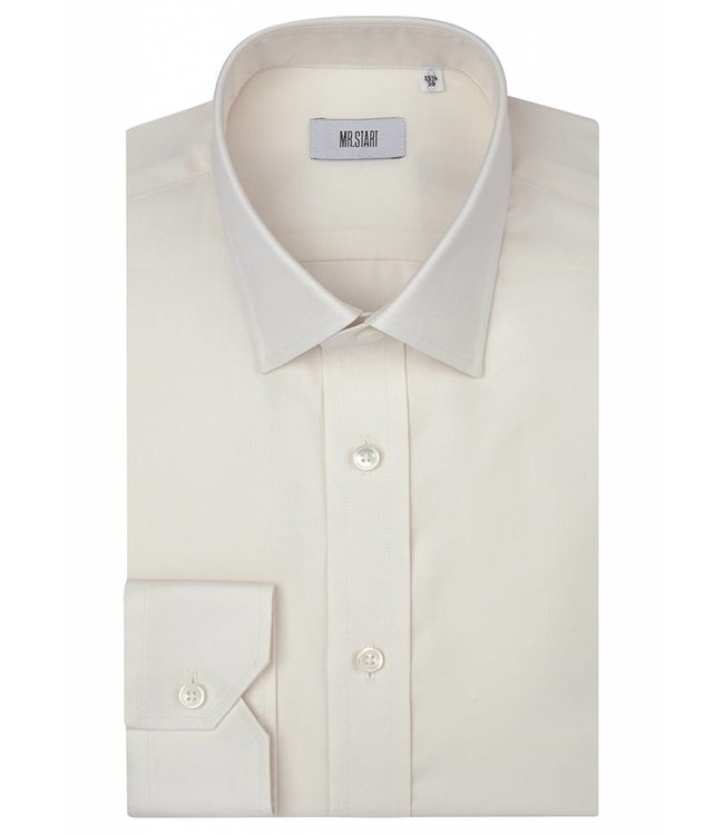 The Ritz Superfine Two Fold Cotton Shirt in Cream