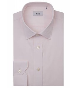 The Ritz Superfine Two Fold Cotton Shirt in Pale Pink