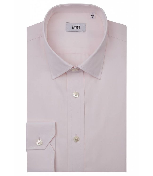 The Ritz Super Fine Two Fold Cotton Shirt in Pale Pink
