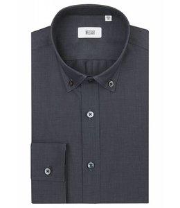 The Curtain Super Fine Two Fold Cotton Button Down in Classic Black
