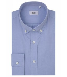 The Curtain Super Fine Textured Button Down in Blue Microweave