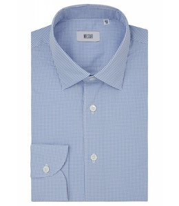 The Drake Superior Two Fold Cotton Shirt with Blue Spot Print