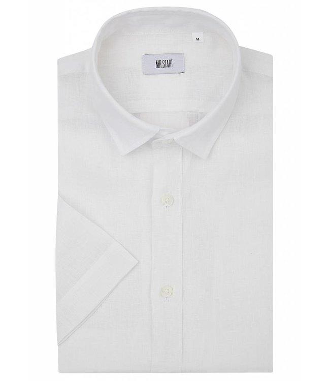 Factory Shirt in White Linen