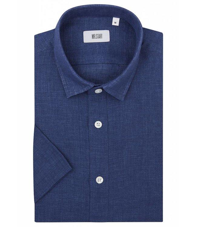The Factory Shirt in Blue Linen