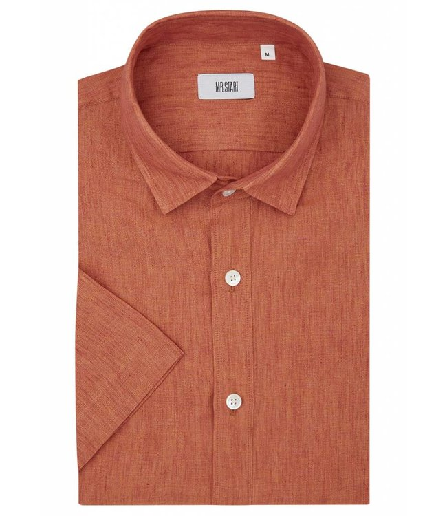 The Factory Shirt in Fire Orange Linen
