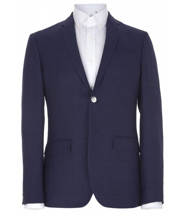 The Pitfield Jacket in Navy Wool & Linen