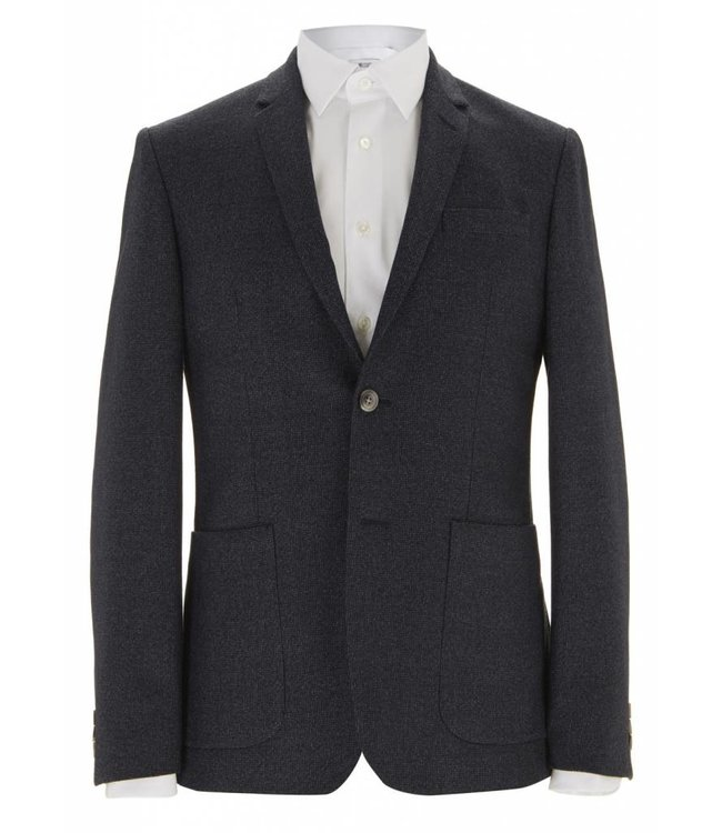 The Pitfield Super Soft Wool Jacket in Blue Micro Check