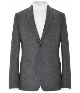 The Pitfield Super Soft Brushed Wool Jacket in Black & Grey Dogtooth