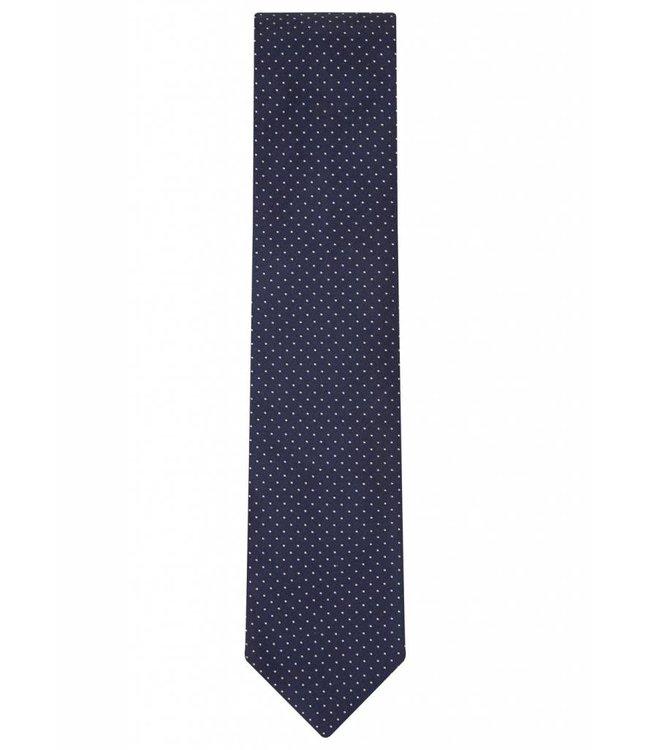 Silk Tie in Navy Pin Dot
