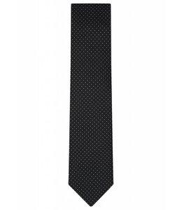 Silk Tie - Black Pin Dot