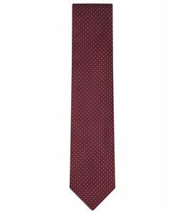 Silk Tie - Red Pin Dot