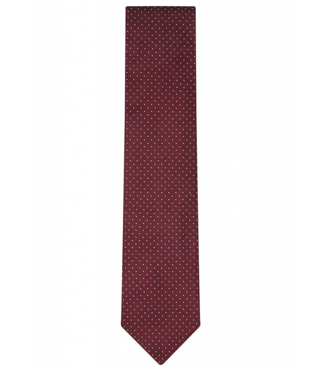 Silk Tie in Red Pin Dot