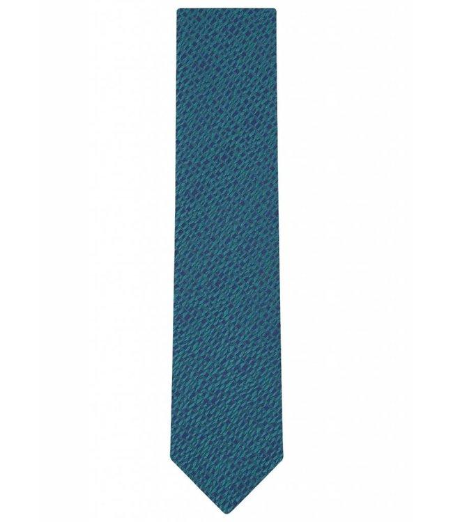 Silk Tie in Iridescent Green Abstract Weave