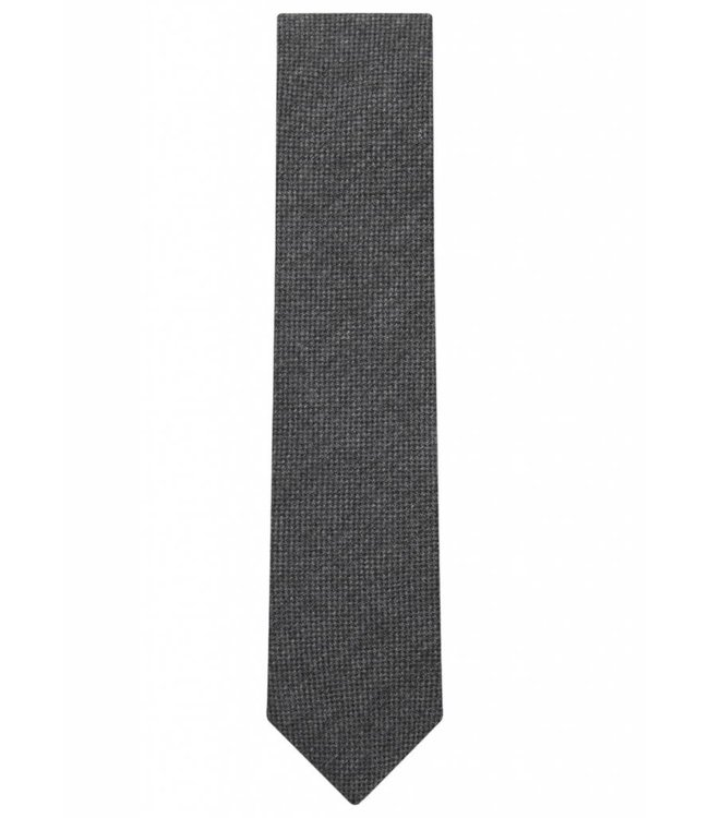 Wool Tie in Grey Micro Check