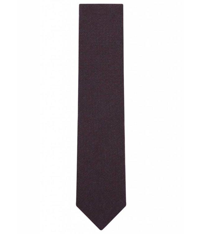 Wool Tie in Maroon Micro Check