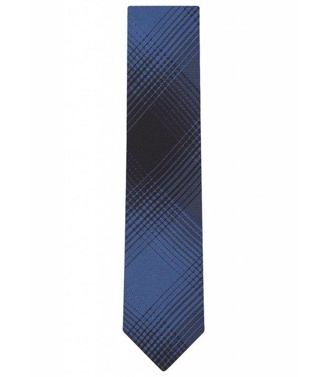 Silk Tie in Blue Check Print