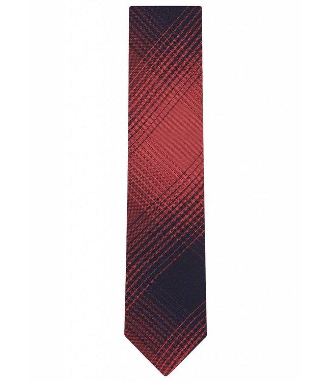 Silk Tie in Orange Check Print