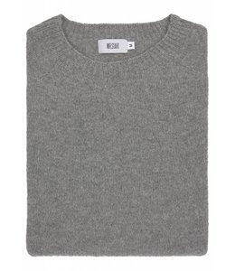 The Rannoch Cashmere & Merino Wool Crew Neck in Grey