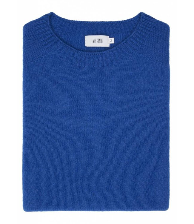 The Rannoch Cashmere/Merino Crew Neck in Royal Blue