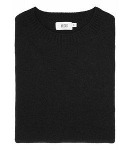 The Rannoch Cashmere & Merino Wool Crew Neck in Classic Black