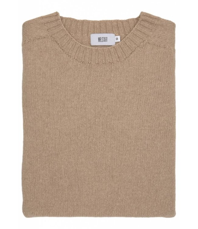 The Ruthven Cotton & Wool Crew Neck in Tawny Owl