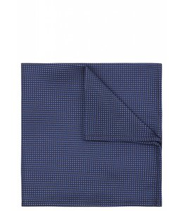 Silk Pocket Square - Iridescent Blue Weave